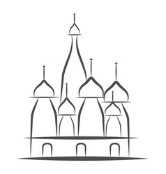 st basil s cathedral red square moscow russia vector image
