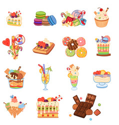 sweet summer composition collection vector image
