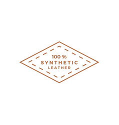 synthetic leather logo icon vector image