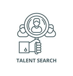 Talent search line icon linear concept vector