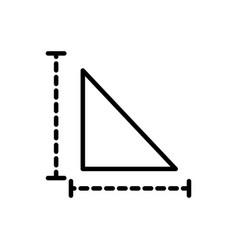 Triangle measure architecture icon line style vector