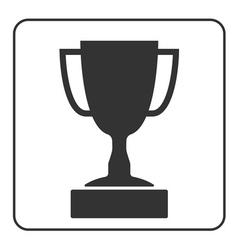 Trophy cup icon 1 vector image