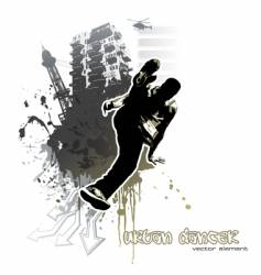 Urban dancer vector