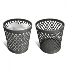 Wastepaper basket vector