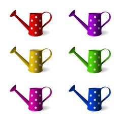 watering can set of children s watering cans in vector image