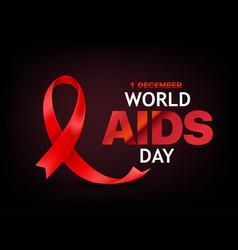 World aids awareness day banner vector