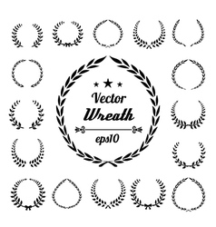 Wreath collection on white background vector