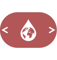 earth in water-drop vector image
