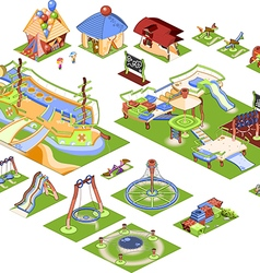 Playground - isometric vector image vector image