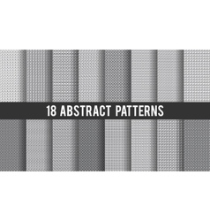 Set of 18 seamless abstract patterns vector image