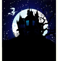 castle blue vector image vector image