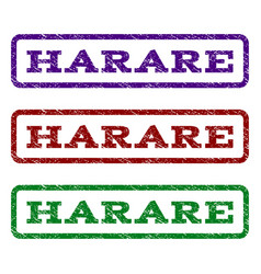 harare watermark stamp vector image