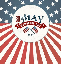 Memorial day greeting card element vector