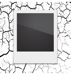 Retro Polaroid photo frame on the background vector image vector image