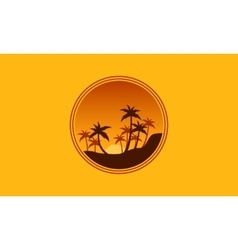 Silhouette of forest palm tree scenery vector image