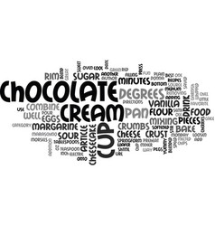 best recipes chocolate chip cheesecake text word vector image