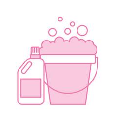 detergent bottle with pot vector image vector image