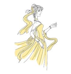 Pretty young bride vector image