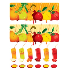 set juice vector image vector image