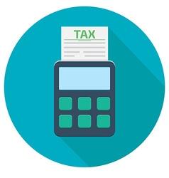 tax calculator icon vector image