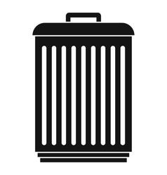 Trashcan icon simple style vector