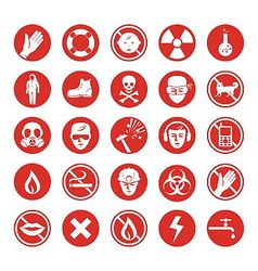 Work protection various icons vector image