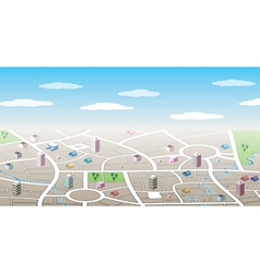 3d city map vector image vector image