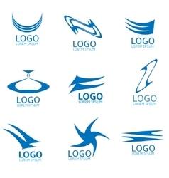 Abstract logo set vector image vector image