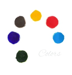 Rainbow colors paint circles set vector image