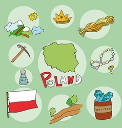 set of national profile of the poland vector image