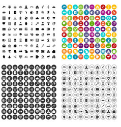 100 security icons set variant vector
