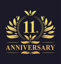 11th anniversary logo 11 years anniversary design vector