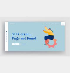 404 error website landing page little woman vector image