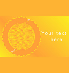 A labyrinth of yellow lines on a bright background vector