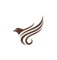 abstract eagle fly icon logo concept design vector image