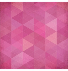 Abstract triangles vintage pink background vector image