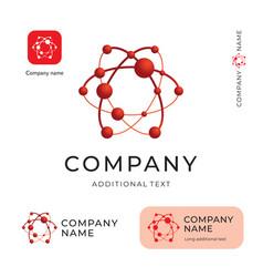 atom logo modern physics identity beautiful brand vector image