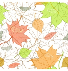 Autumn Fallen Leaves Hand Drawn Pattern vector