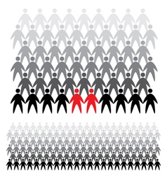 background people icons vector image