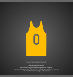 basketball jersey icon simple game element vector image