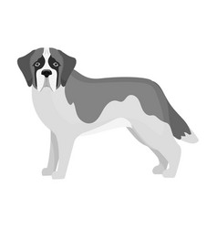 Beagle single icon in monochrome stylebeagle vector