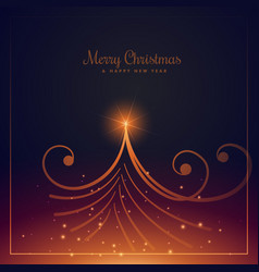 beautiful merry christmas greeting design with vector image