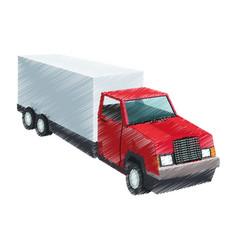 big cargo truck icon image vector image