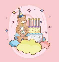 birthday and bears vector image