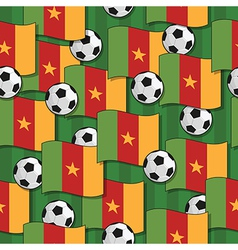 Cameroon football pattern vector