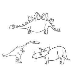 Cartoon set 04 of ancient dinosaur monsters vector