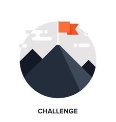 Challenge flat concept vector
