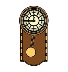 Color cirrus oak wall clock design vector