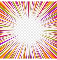 Color Comics Radial Speed Lines graphic effects on vector