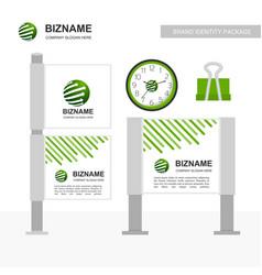 company bill board with creative design vector image